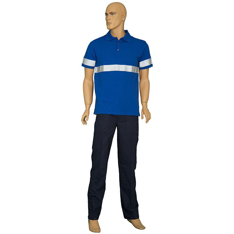 Reflektörlü Polo Yaka T-Shirt